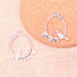 Bird Bracelets online shopping - 68pcs Antique Sliver bird birdcage branch Charm Pendant DIY Necklace Bracelet Bangle Findings mm