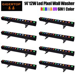 led tube lights wholesale price UK - Wholesales Price 8 Unit 14x12W RGBWAUV 6IN1 Indoor LED Linear Tube Light Smooth Dimmer Output Flood light&Wall Washer 110V-220V TIPTOP