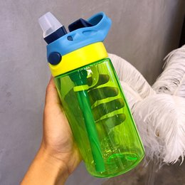 bottles for school 2019 - New 480ml cute Eco-friendly for Kid baby cartoon School Camp water bottle sport for water children Straw kettle sports b