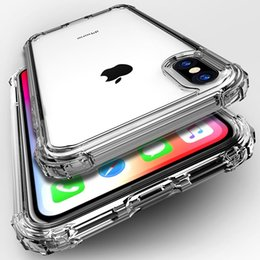 $enCountryForm.capitalKeyWord NZ - Luxury Shockproof Bumper Transparent Silicone Phone Case For iPhone X XS XR XS Max 8 7 6 6S Plus Clear protection Back Cover