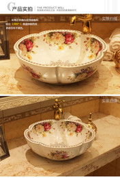basin bowl sink Australia - China Artistic Handmade Ceramic Art Basin Sinks Counter Top Wash Basin Bathroom Vessel Sinks vanities bowl wash basin