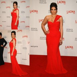kim kardashian zipper dress Australia - ZSD-011 kim kardashian hot red mermaid evening dresses one shoulder pleat chiffon prom gowns free shipping