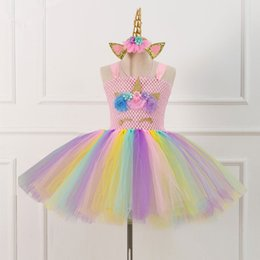 3c184a029456 Bell costumes online shopping - Children Unicorn Tutu Dress Girls Princess  Cosplay Costume Kid Birthday Party