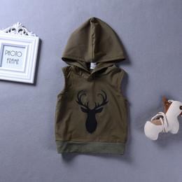 $enCountryForm.capitalKeyWord NZ - New Summer Baby Kids Hooded Vest Boys Girls Sleeveless Tops Cartoon Deer Hooded Waistcoat Vests 4449