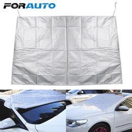 Discount anti sun car - Half Size Car Covers Heat Sun Shade Car Styling Winter Anti Snow Frost Ice Shield Dust Protector Magnetic Windscreen Cov