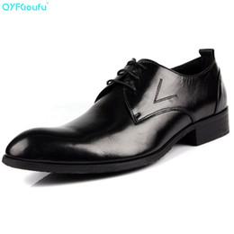 $enCountryForm.capitalKeyWord Australia - QYFCIOUFU 2019 New British Style Mens Pointed Toe Dress Shoes Genuine Leather Business Social Shoe Lace-up Men's Suit Shoes
