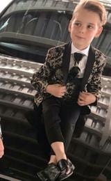 Boy's Suits 3 Pieces Beach Wedding Tuxedos For Kid Shawl Lapel Formal Prom Suit (Jacket+Pants+Vest) Little Boys Formal Wear on Sale