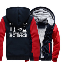 Discount print science - Men's Sportswear Hoody 2017 New Fashion Thick Hoodies Print Stand Back I'm Going To Try Science Casual Hip Hop