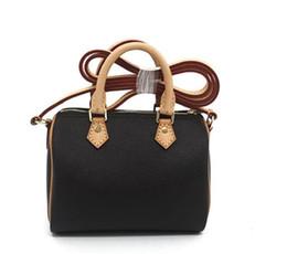 Hot SPEEDY Shoulder M61252 Mini bolso de cuero lindo bandolera bolsos cruzados 16cm Hembra NANO cubo marrón flor mini almohada CLUCH BAG en venta