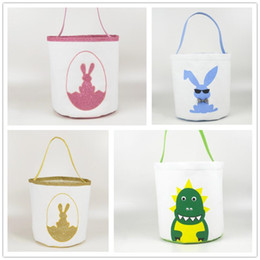 bunny handbags Australia - Easter Buckets Cute Printed Easter Bunny Basket kids Lucky Egg Baskets Child Candy Bags Holiday Fashion Kid Handbag Toy Storage Bags WY520-L