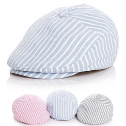 cute baby girl summer hat NZ - Cute !! Children Stripe Classic Style Fashion Cap Toddler Summer Baby Hat Boy Caps For Child Girl Berets Kids Hats C19041001