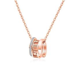 $enCountryForm.capitalKeyWord Australia - Rose Gold Necklace Pendant Titanium Steel Valentine's Day Gift Girlfriend Birthday Ring Pendant Fashion Trend Woman