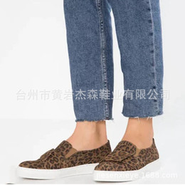 fu le shoes Canada - Attractive2019 Will New Code Leopard Print Single Shoe Woman Flat Bottom One Pedal Buckle Leisure Time Le Fu Shoes