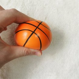 basketball toys for boys UK - 12pcs 10cm Toy Anti Stress Squishy Relief Soccer Football Basketball Baseball Tennis Foam squeeze Ball Toys for Girls Boys