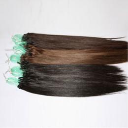 $enCountryForm.capitalKeyWord Australia - Top Quality 100g lot #1 #1B #2 #4 #6 #27 #60 #613 #99J Micro Ring Loop brazilian Human Hair Extensions