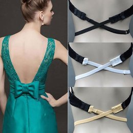 backless strap NZ - Women Low Back Bra Strap Adjustable Bra Strap Hook Converter Extender Ladies Backless Dress Wearing Clothing Accessories