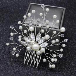 Hair pin comb clip online shopping - Women Pearl Hair Combs Wedding Hair Accessories Pin Rhinestone Tiara Bridal Clips Crystal Crown Bride Jewelry