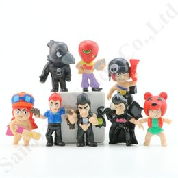 old style cars 2019 - 8 Styles Set Brawl Stars Action Figures Collection Model Toys 7cm Mobile Game Shelly Colt Jessie Doll Kids Gift Car Deco