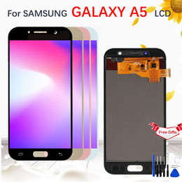 Discount samsung galaxy a5 touch screen - AMOLED TFT LCD For SAMSUNG GALAXY A5 2017 A520 A520F SM-A520F LCD Display Touch Screen Digitizer Assembly Replacemen