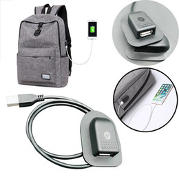 Mobile Interfaces NZ - Popular Black Backpack External Bike Light USB Charging Interface Adapter Charging Cabl Mobile Phone Charger Badges Accessories #257359