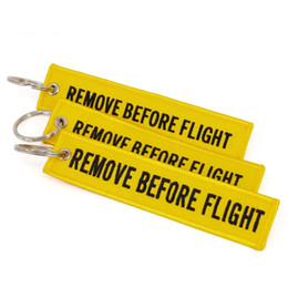$enCountryForm.capitalKeyWord NZ - Keychain REMOVE BEFORE FLIGHT Embroidered Canvas Color Optional Keyring Luggage Tag Label Aviation Fashion Accessories car key rings 13*3cm