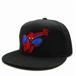 spider man glove NZ - LDSLYJR Cartoon Spider man embroidery cotton Baseball Cap hiphop cap Adjustable Snapback Hats & Caps Hats, Scarves & Gloves Hats for men and