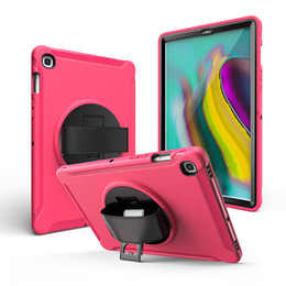 TableT covers for samsung online shopping - Rugged Silicone Hybrid Case with Kickstand and Hand Strap for Samsung Galaxy Tab S5E T720 T725 Tablet Kids Cover