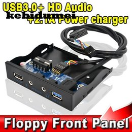 "usb hub powered charger 2019 - kebidumei Internal 3.5"" Floppy Bay Front Panel Bracket USB 3.0 Hub 2.1A Power Charger Output HD Audio + Mic Interfa"