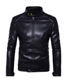 $enCountryForm.capitalKeyWord Australia - Men Coat Plus Size 5XL Casual Leather Jacket Men Stand Collar Black Jackets Male High Quality Mens Genuine Leather Jacket Man