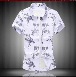 $enCountryForm.capitalKeyWord Australia - New Fashion Brand Camisa Masculina short Sleeve Shirt Men Korean Slim Design Formal Casual Male Dress Shirt Size M-XXL C27