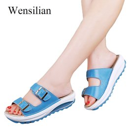 $enCountryForm.capitalKeyWord Canada - Summer Women Sandals Wedges Slippers Shoes Platform Sandals Ladies Slides Buckle Strap Beach Shoes Zapatos Mujer 2019 Y19070203
