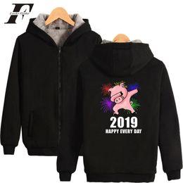 $enCountryForm.capitalKeyWord Australia - 2019 NEW bts harajuku hoodie Year Of The Pig Team Thicken cotton Zipper Oversize hoodies Winter Men bts Kpop Warm pig plus size
