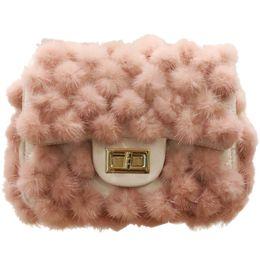 Hair Fur Australia - Women's Designer Handbag 2019 New High Quality Soft Mink Hair Square Bag Lock Chain Shoulder Messenger Bag Sweet Fur Bags