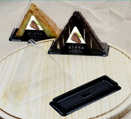 Plastic Handmade Pack Australia - 50set Hold Italy Snow Cakes Boxes Clear Plastic Triangle Bakery Pack Cookies pastry Box Bread Toast Baking Packing