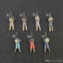 $enCountryForm.capitalKeyWord Australia - New Fashion Men Brooch short lapel pin suit Boutonniere fabric 7 colors button Stick butterfly Brooches pins for wedding Ladies Scarf Hijab