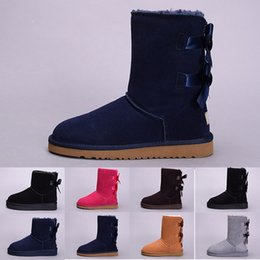$enCountryForm.capitalKeyWord NZ - Hot winter Australia Classic snow Boots good fashion WGG tall boots real leather Bailey Bowknot women's bailey bow Knee Boots mens shoes