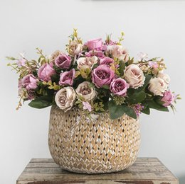 $enCountryForm.capitalKeyWord Australia - New 8heads Small Silk Artificial Rose Flowers Flores Fleur Artificielles For Home Table Decoration Fake Flower Small Bouquet