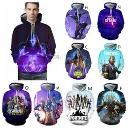 Discount camping hiking hats - 3D Printed Fortnite Games Adult Pullover Hoodie Unisex Sweatshirt Hip-Hop Hooded Hoodies Fall Outfit Long Sleeve with Ha