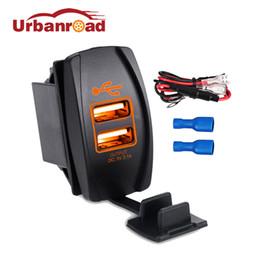 Usb Dc Power Socket Australia - Urbanroad DC 12-24V Dual USB Port Car Charger Cigarette Lighter Socket Power Adapter Splitter 5V 3.1A For IPhone 6 6S 7 Samsung