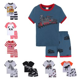 $enCountryForm.capitalKeyWord UK - Baby girls boys Light home Clothes Kids Clothes Casual Short-Sleeved Cartoon pattern T-shirt Dress Cute Summer Cotton Dress with Animal Appl