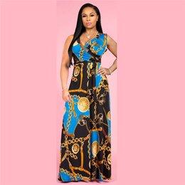 $enCountryForm.capitalKeyWord NZ - Guccy V Neck Women Summer Designer Dresses Sleeveless Floral Print Maxi Female Clothing Sexy Casual Apparel