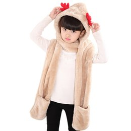 $enCountryForm.capitalKeyWord Australia - 2019 Autumn and Winter New Kids Scarf Hat Gloves Three Sets of Parent-child Models Sweet and Lovely Christmas Deer Plus Velvet Scarf 916X30