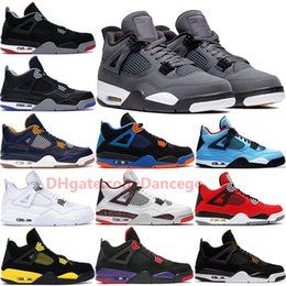 leather racing shoes 2019 - Jumpman 4 4s Cool Grey Bred basketball shoes men mens Cavs Thunder Dunk From Above Raptors Royalty CACTUS JACK sneakers
