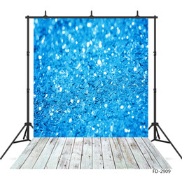 background paintings NZ - Blue Sequin Wall Bokeh Photographic Background Custom Backdrop Photo Studio for Children Baby Portrait Photoshoot Photobooth