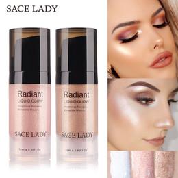Face Glow Cream NZ - Sace Lady Liquid Highlighter Face Makeup Illuminator Glow Kit Make Up Brighten Shimmer Cream Facial Bronzer Contour Cosmetic
