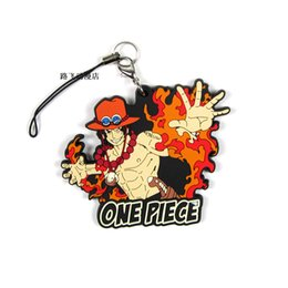 Discount one piece portgas d ace figure - 1PCS One Piece Portgas D Ace Anime Action Key Chain Silica Gel Figure Keyring cute Toy Keychain Keyholder Unisex XMAS Gi