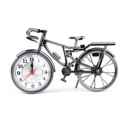 Bicycle Electronics Australia - Fashion ABS + Electronic Home Decoration Creatives Art Customed Bike Shape Clock Children Kids Bicycle Quartz Alarm Clock