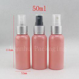 Plastic Pink Containers Australia - 50ml X 50 empty travel size spray bottle,50cc refillable makeup setting spray ,pink mist spray pump plastic bottle container