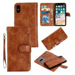 $enCountryForm.capitalKeyWord NZ - Magnet Removable Wallet Case For iPhone XR XS Max X PU Leather Case For iPhone 6 6s Plus 7 8 Plus X(10) Smart Phone Cases EEMIA