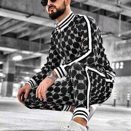 Wholesale tracksuit mens resale online – New Men Casual Zipper Set Autumn Mens set Tracksuit Male Sweatshirt Sweatpants Multi pocket Fashion High Street Jackets Sets